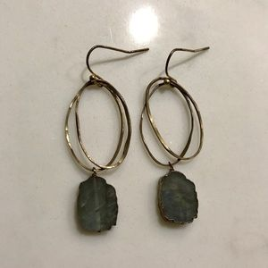Anthropologie Drop Stone Earrings
